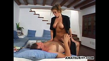 busty nxxx  com amateur girlfriend home action with cum on tits