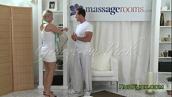 after a short massgae xxx vdeo blonde gets fucked