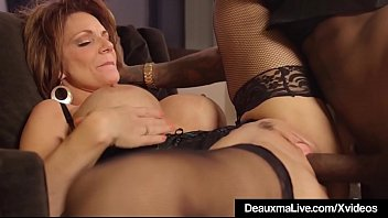 hot mature cougar deauxma gets drilled top nude model by a big black cock