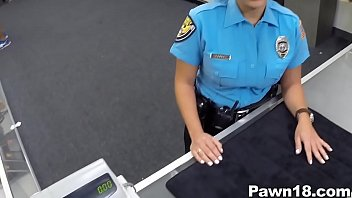 police officer comes hintai into pawn shop