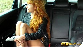 redhead liza sexy gand photo flashes and fucked in taxi cab with the driver