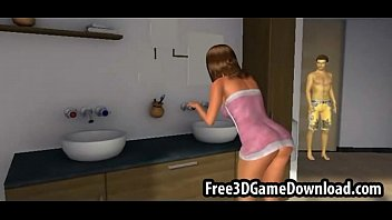 beautiful 3d cartoon babe with long brown hair being dit bup be tinh duc touched stop jerking off try it d ailyfuc k.org