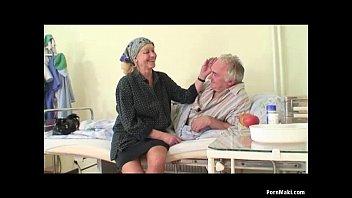 granny watches grandpa xxx sexy hot video fucks nurse in hospital