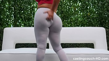 thick dog and sexy video ass white girl piped round two