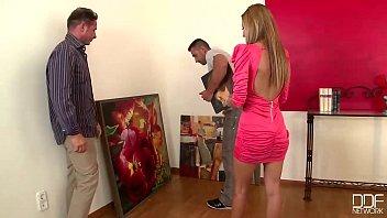 ddf network - gang rape xxx romanian glamour model loves double penetration