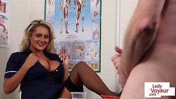bigtitted ww sex vedeo com nurse voyeur encouraging sub to tug
