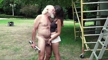 old man plays a sex wwwsexcom game with young girl they have super stunning sex