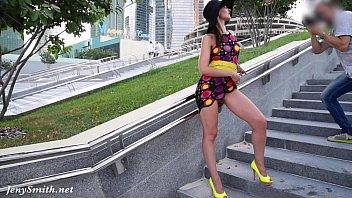 jeny smith yellow heels www xxvideos public flashing