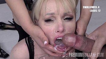 premium bukkake - lola taylor swallows 67 huge mouthful sex wep com cum loads