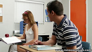 innocenthigh cute teen rides cock fucking competition in the classroom