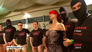 wwwwxxxx german goo girls - blindfolded milf bukkake gangbang