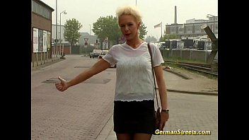 blonde german is fucked father fuck in car washing