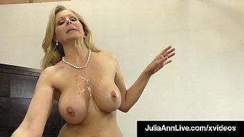 dick sucking sex fuck cougar julia ann sucks and strokes lucky cock