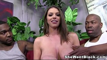 big tit brunette brooklyn chase gets creampied by sexyvidios 2 black cocks
