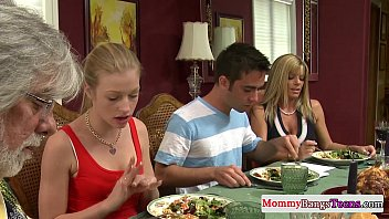 mamma watching hot threesome stepdaughters facial