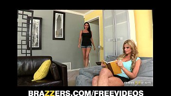 two hot and mean brunettes initiate bfxxx their blond bombshell roommate