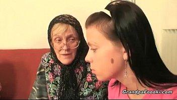 hot xxxmom son babe helps granny to sucks a cock