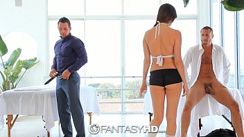 hd bulu films fantasyhd - holly michaels massages two guys turns into threesome