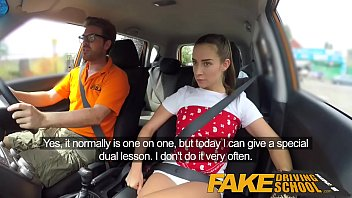 fake driving school sexy horny panochitastube learners secretly fuck in instructors car