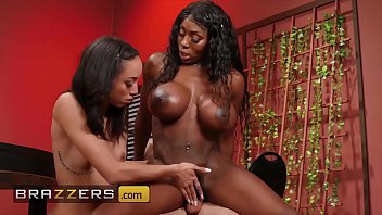 huge thick girls nude tit mystique gives a helping hand to teen alexis tae - brazzers