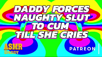 daddy fucks naughty girl til she cums so much she cries asmr three player game porn daddy audio