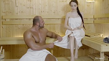 relaxxxed - hard pornpo fuck at the sauna with attractive russian babe angel rush