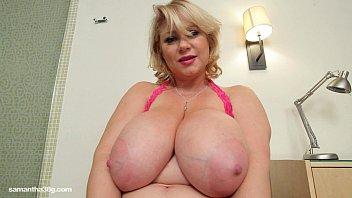 busty bbw brazer xxx milf samantha 38g drills her pussy with dildo