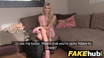 fake agent art modeling studios cherish uk blonde orgasms from hard finger banging on casting couch