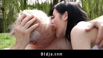 young hot nacked sexy women brunette slut fucks with grandpa in the park