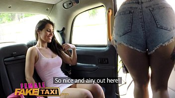female fake sex videio taxi lesbian pussy eating session in cab