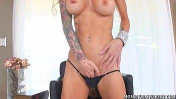 tattooed www sunny leaon com milf sarah jessie shows cocksucking skill