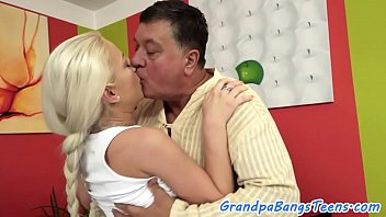 sexvidioes stunning babe bangs grandpa