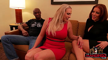 latina milf and blonde mum fuck son take turns with two bbc after a training session