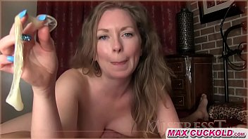 mom forced anal cum filled condom for cuckold