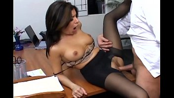 busty rotten experience at the strip club secretary in sheer pantyhose has office sex