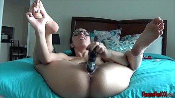 fucking my dildo in a bikini sex vedo solo orgasm
