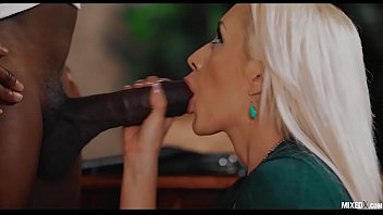 dominant bull sexx9 monster big black cock fuck his blonde assistant