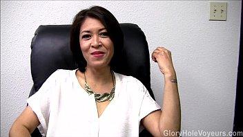 asian milf iyutan gloryhole interview blowjob