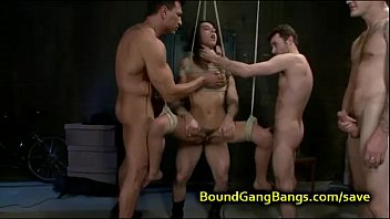 tied up babe suspended justporno tv orgy fucked