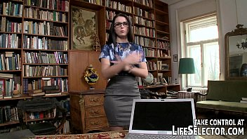 librarian stud gets hot masterbate dirty with book-work gals.