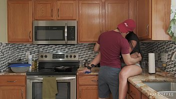 fucking and sexy girl xxxx cooking thick latina wife gets fucked while the husband cooks