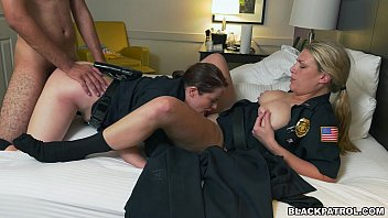 xxx porn vedio police officers have threesome with criminal