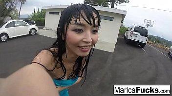 marica hase in sexy lingerie masturbates porn stars in the mirror