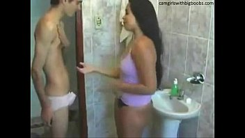 step brother sister live sexing videos sex on bathroom found them on camgirlswithbigboobs.com