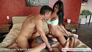 brunettes xhemaster tory lane and raven bay gets facialized
