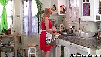 mom rather desi lady com masturbates than clean up the kitchen