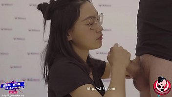 june liu spicygum badmasti - blowjob and footjob by a chinese cutie with high heel and black pantyhose