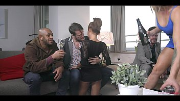 brittany bardot and rose valerie tag xxxx b team to empty 3 men balls. they get dped and swap cum