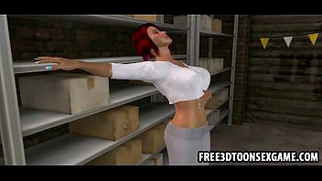 two sexy 3d cartoon cuties at www xvideo download com a garage in sexy threesome