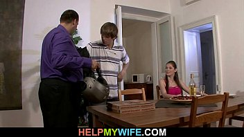 hot wife cucks hubby superxvideo with pizza boy
